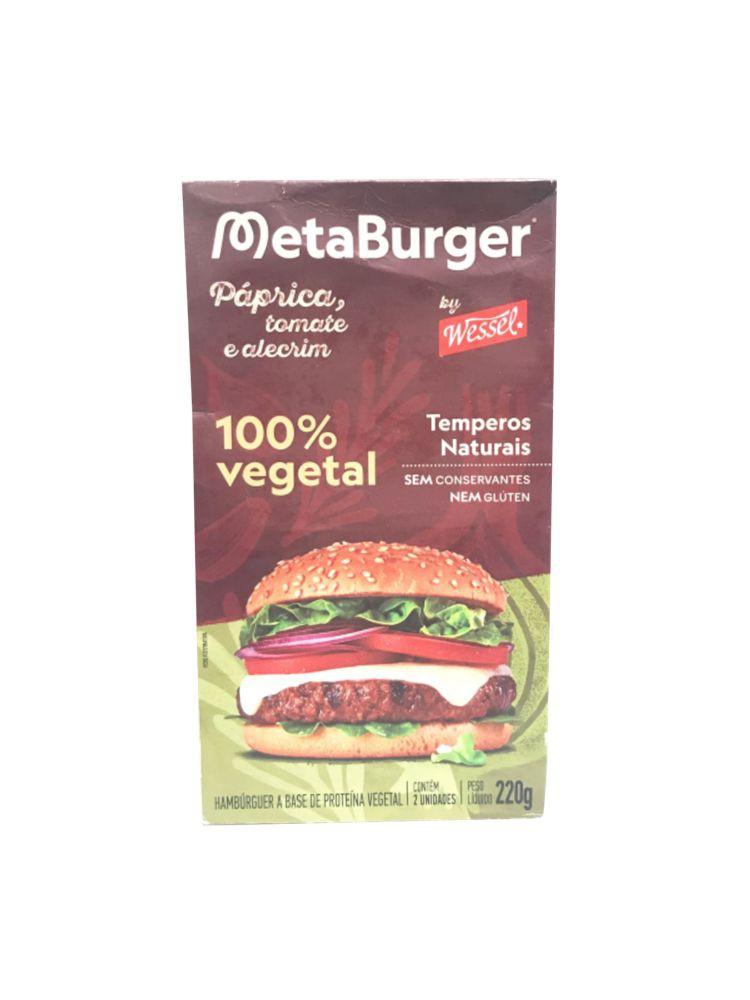 Hambúrguer MetaBurguer páprica, tomate e alecrim