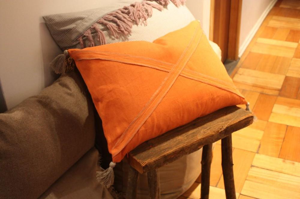 Cojín de lino 60x40 naranja