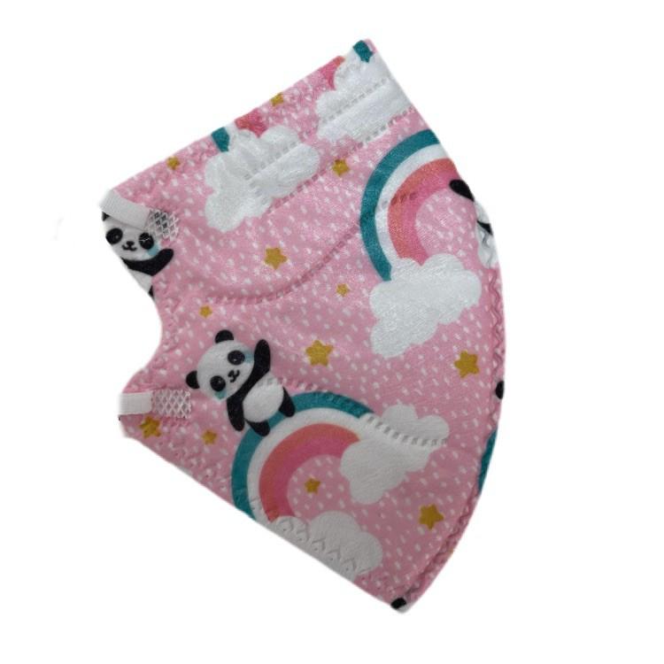 Mascarilla kn95 niño panda rosado (certificada) Pack de 15 unidades