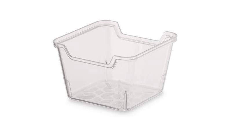 Organizador de gaveta transparente em plástico