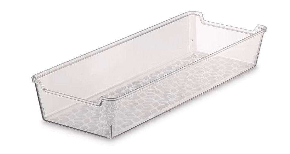 Organizador de gaveta liso em acrílico transparente