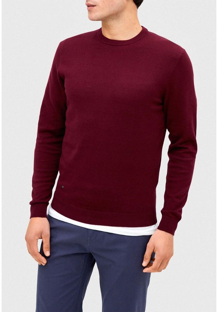Sweater burdeo