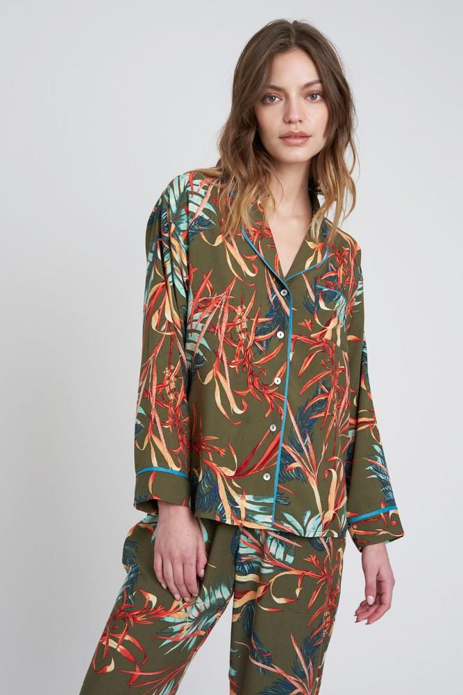 Pijama sofia flores militar M