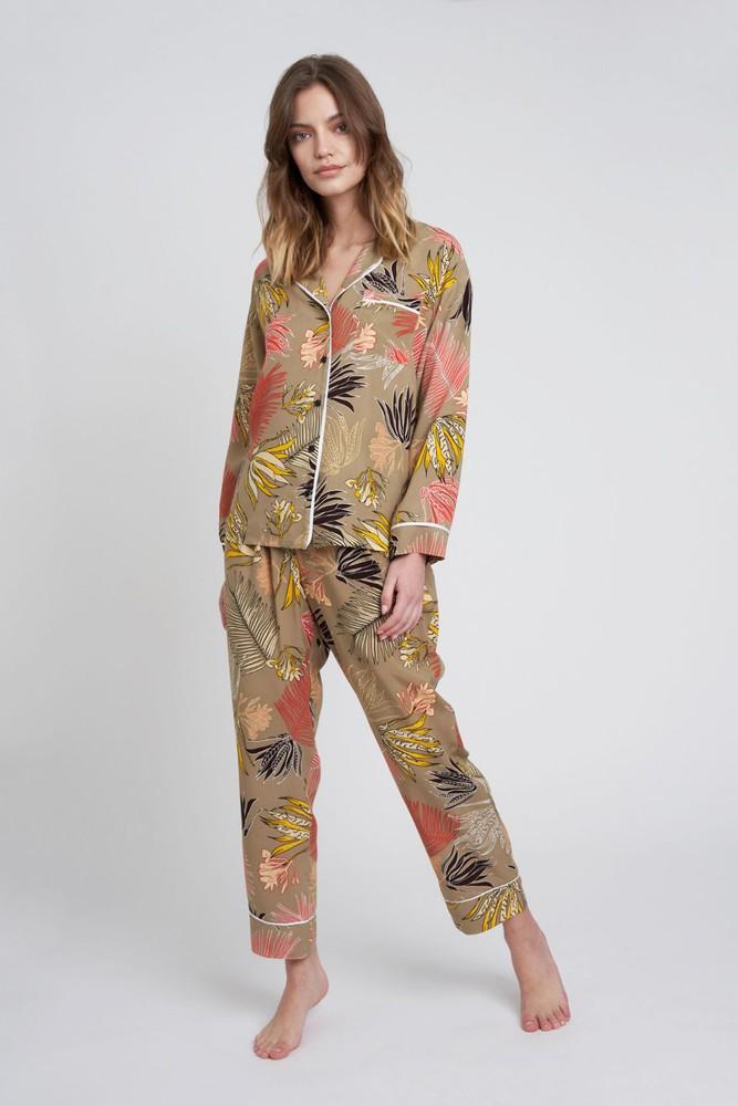 Pijama sofia flores oliva M