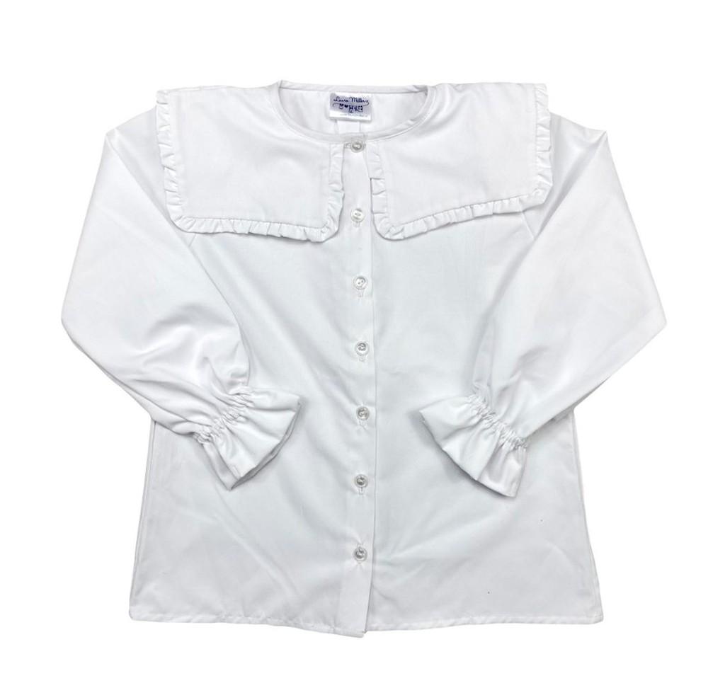 Blusa blanca cuello cuadrado Talla 4