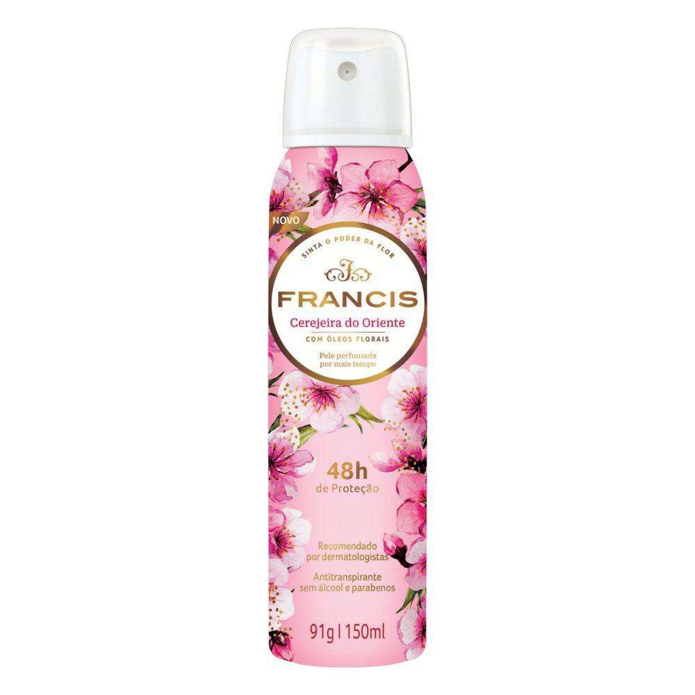 Desodorante aerosol cerejeira do Oriente com óleos florais