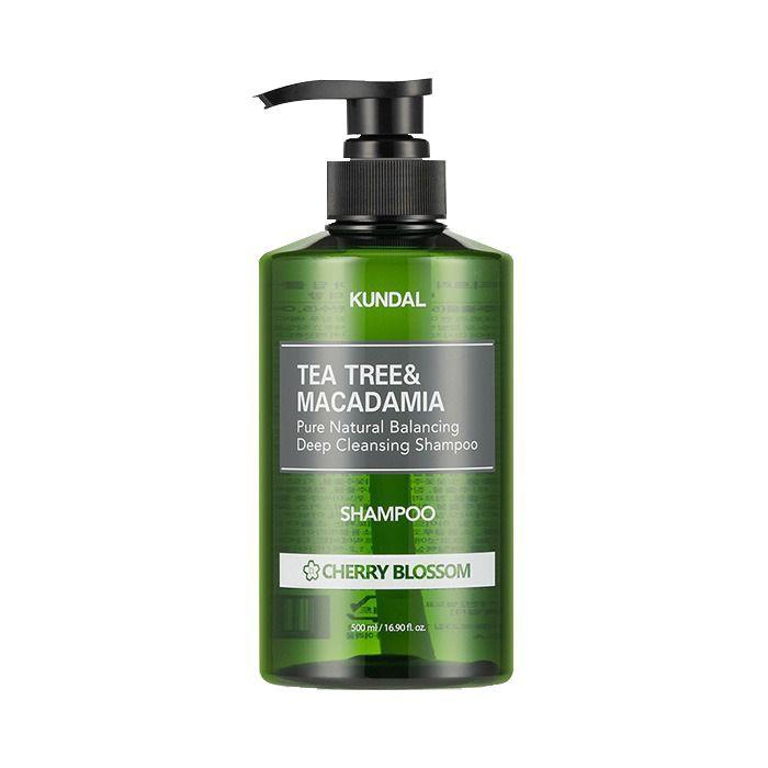 Shampoo de Limpieza Profunda, Árbol de Té & Macadamia [Cherry Blossom] 500 ml