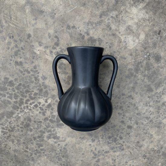 Florero negro cerámica 2 Unidad