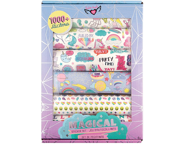 Kit 1000 stickers magicos