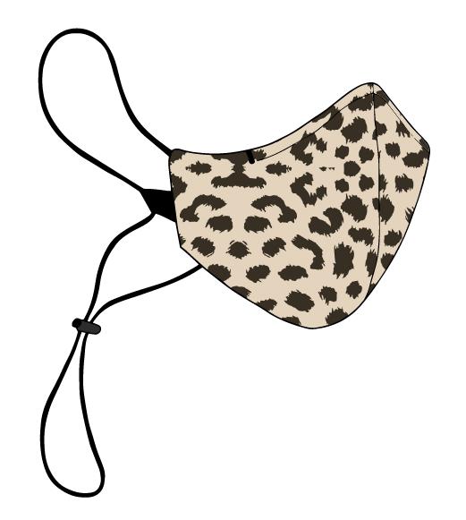 Mascarilla leopardo Talla única