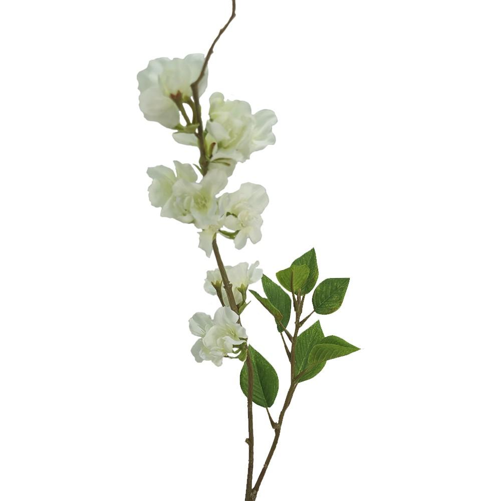 Flor de durazno 73cm blanco