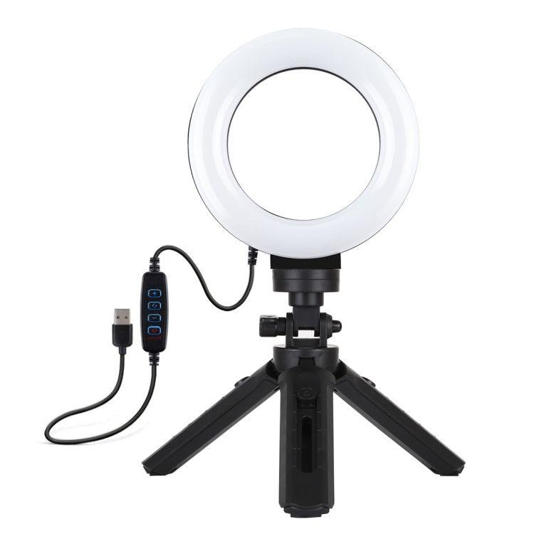 Aro de Luz LED 12cm + Trípode ZE3058