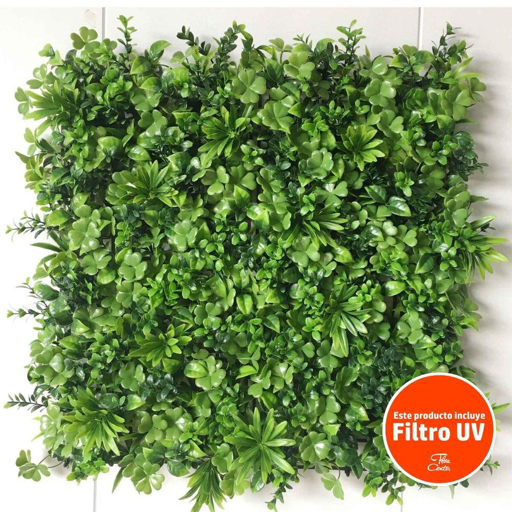 Palmeta trebol mix 50x50cm con filtro uv verde