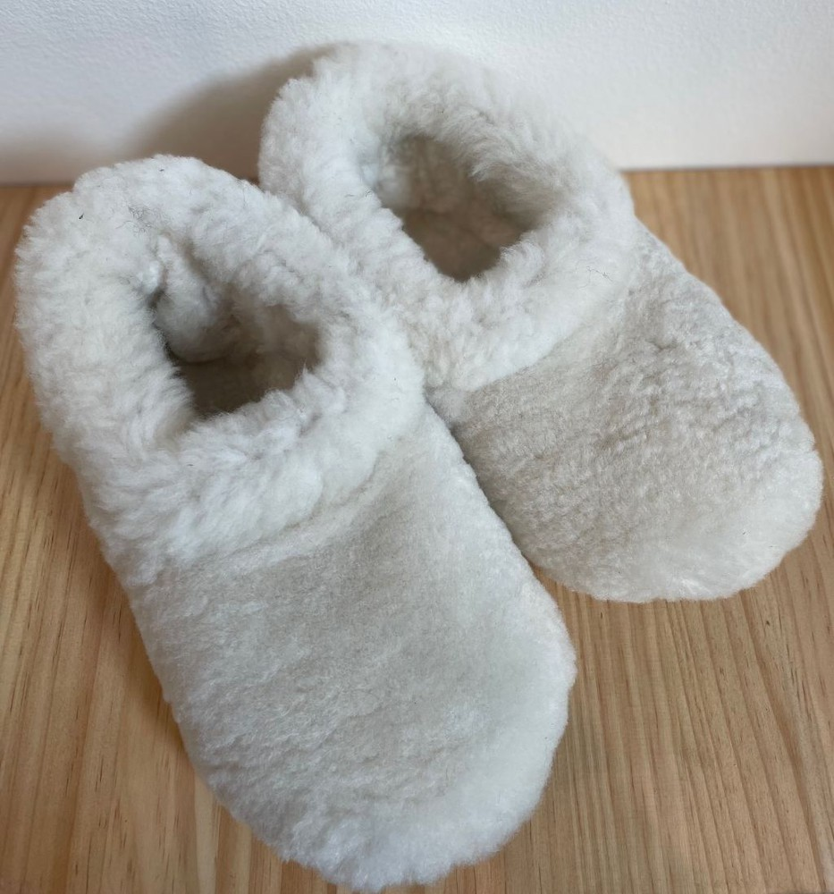 Pantufla kamper piel oveja blanca 38