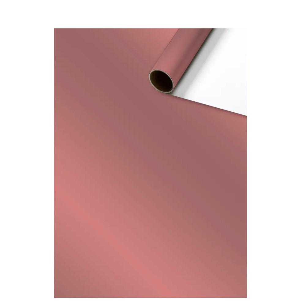 Rollo papel regalo rosa metalizado