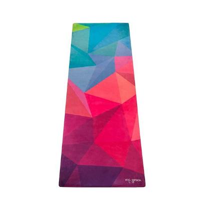 Mat de yoga geo colores microfibra