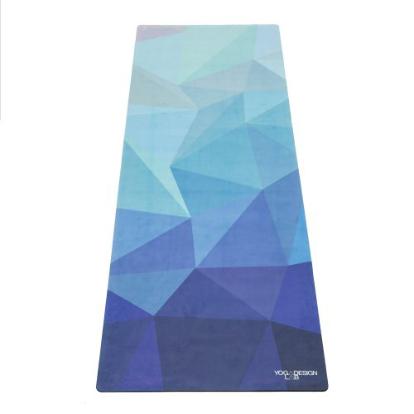 Mat de yoga geo blue microfibra 178x61x0,35cm