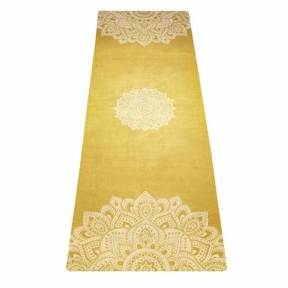 Mat de yoga mandala gold microfibra