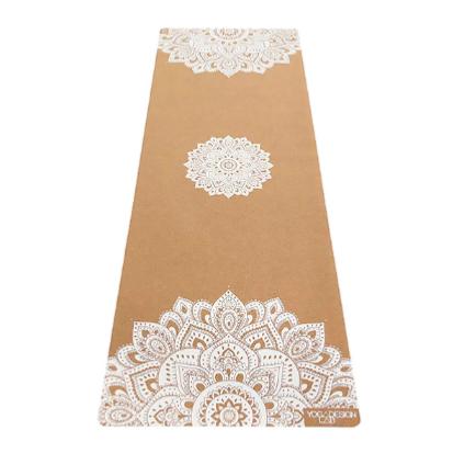 Mat de yoga corcho mandala blanco