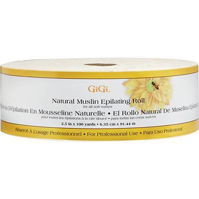 "Natural muslin epilating roll 2.5"" x 100 yd"