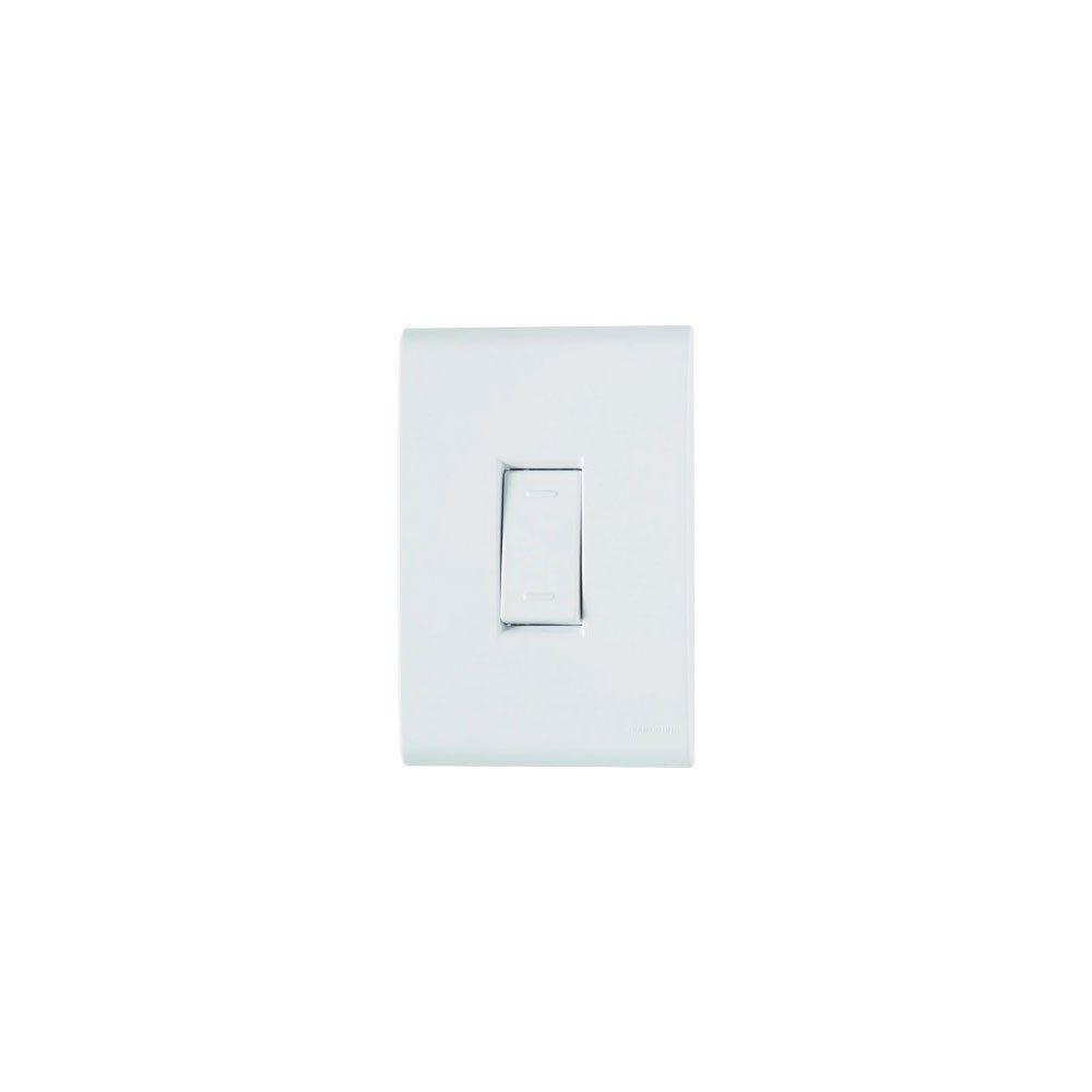 Conjunto interruptor vertical liz branco