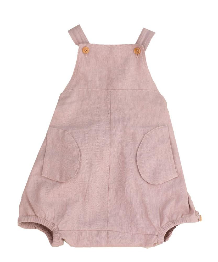 Ranita de lino rosado talla 0-3m