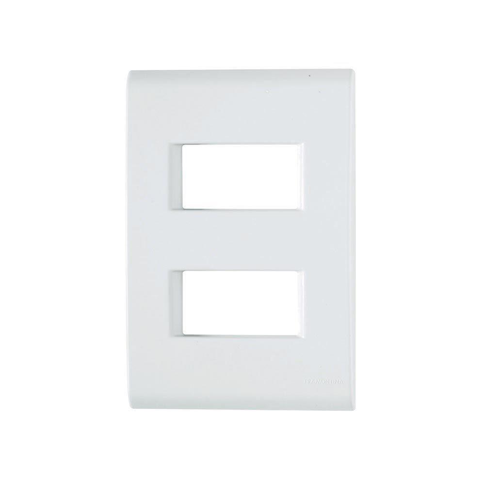 Módulo placa 2 postos separados Liz branco