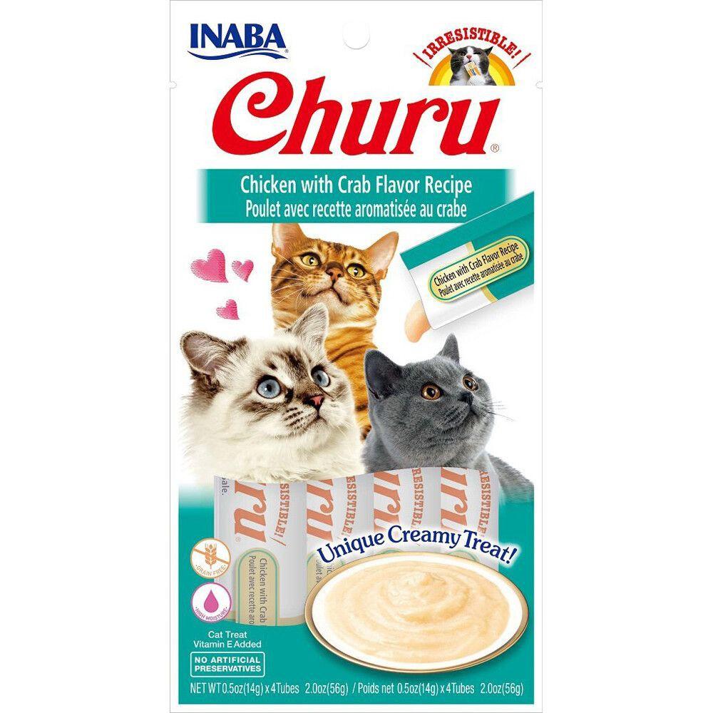 Churu pollo y cangrejo para gatos