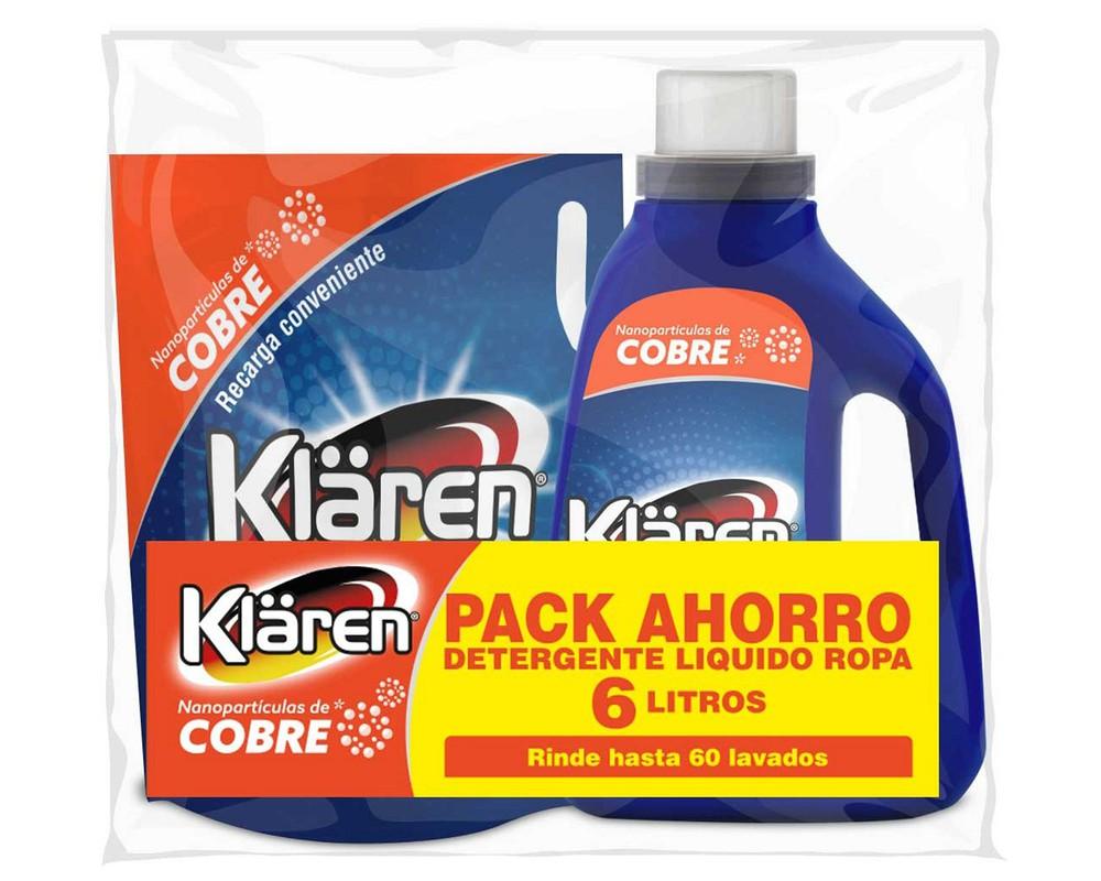 Pack detergente líquido cobre + recarga