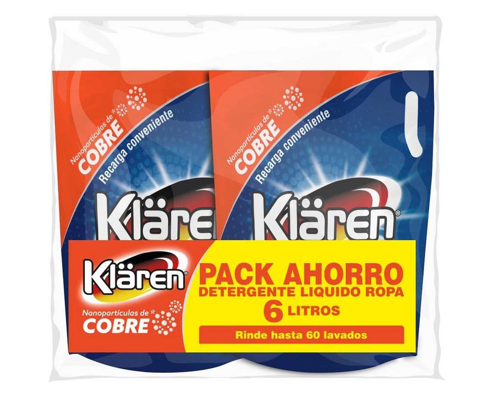 Pack detergente líquido cobre