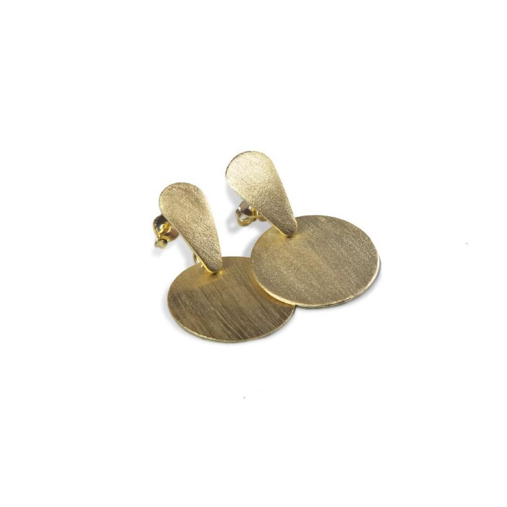 Aros clásicos bañados en oro 3,5 cm x 2 cm
