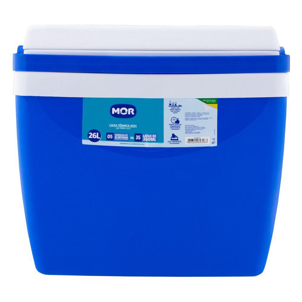 Caixa térmica azul