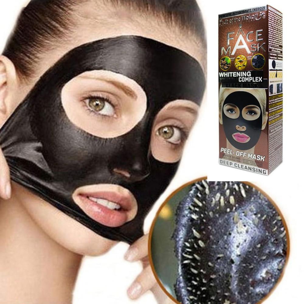Mascarilla facial negra de cafe