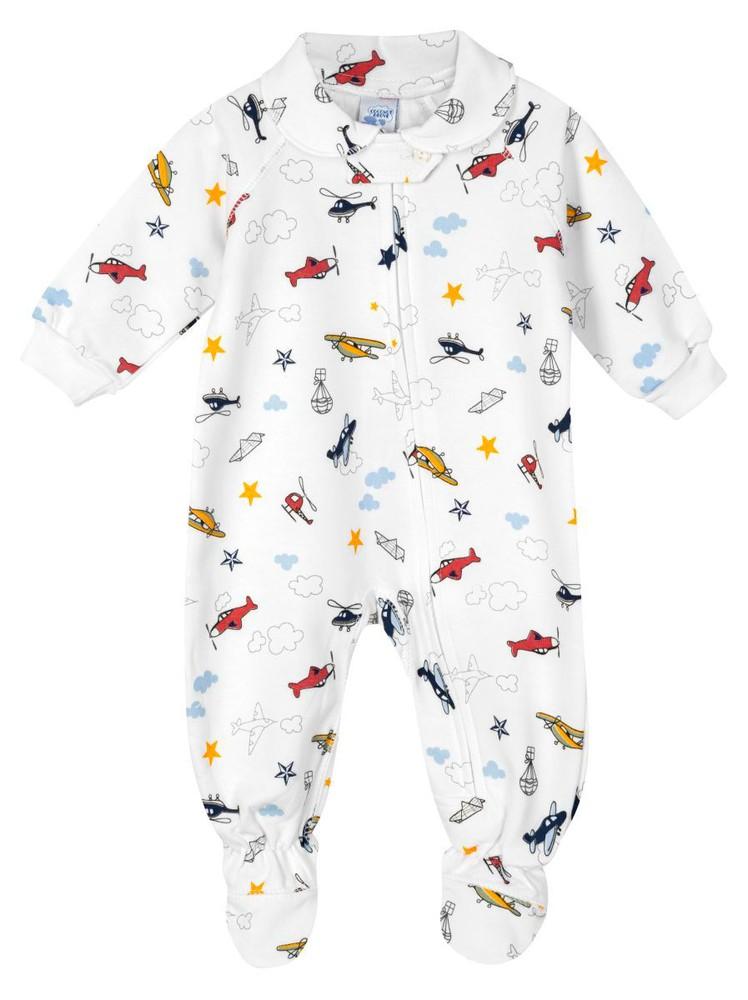 Pijama 1/pza afranelado variedad de estampados 3-6 meses