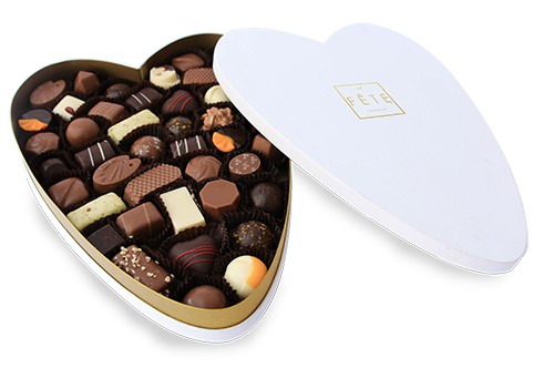 Caja de bombones corazón