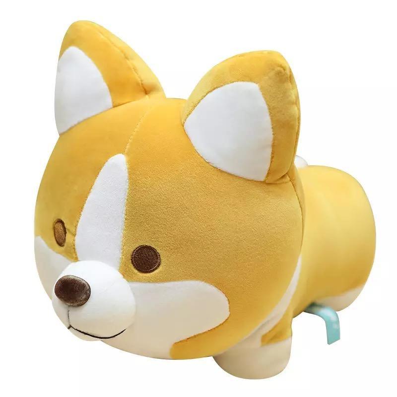 Peluche perro corgi (amarillo)