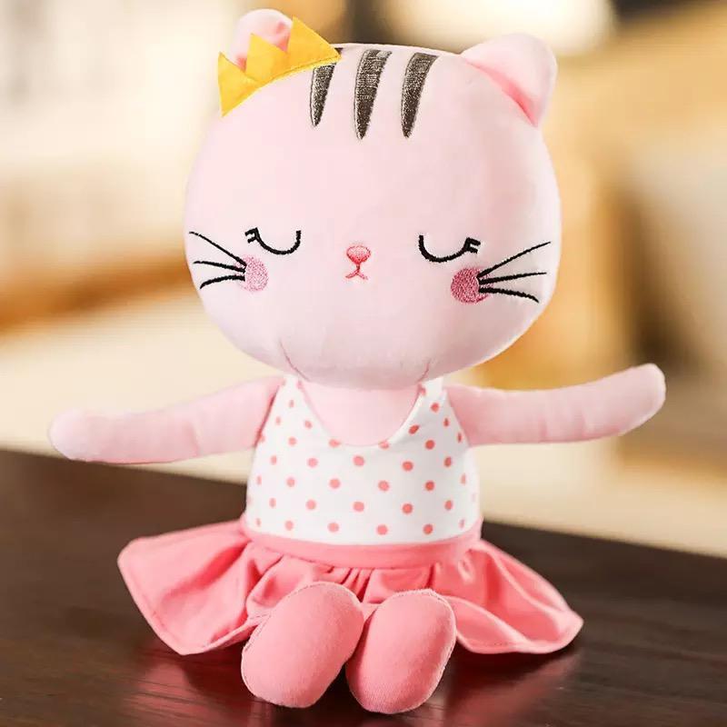 Peluche gato fashion (rosado)
