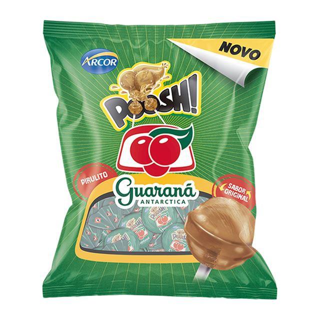 Pirulito sabor Guaraná Antarctica Poosh!