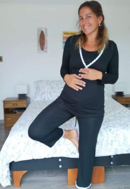 Pijama sol negro talla xl Unidad