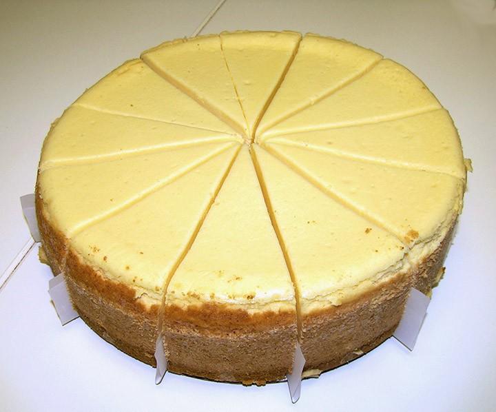 "NY Steakhouse Cheese 9"" cake-72 oz 14 cut"