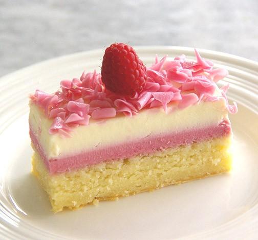 Cake strips - white chocolate raspberry 14 ct