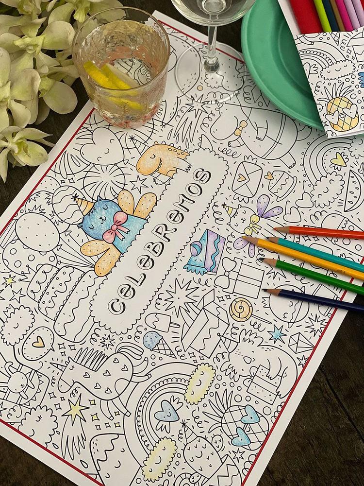 Pack de Mesa para colorear · Animales