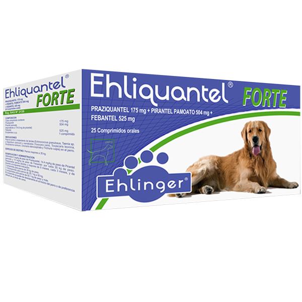 Ehliquantel antiparasitario forte +35kg 5 comprimidos