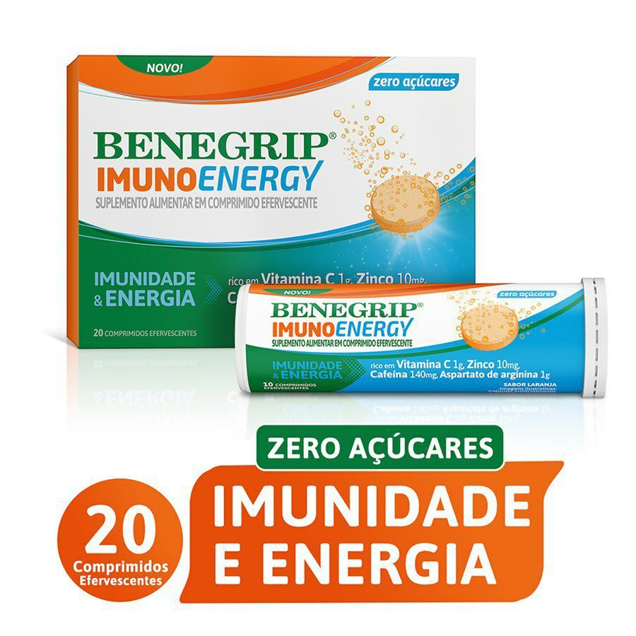 Supmento alimentar ImunoEnergy efervescente