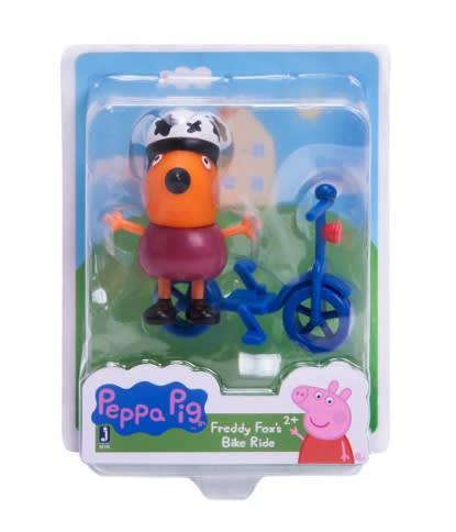 Peppa pig figura freddy fox´s bike ride