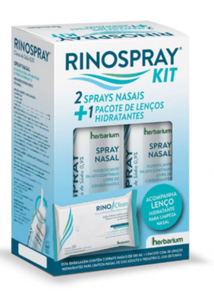 Kit Rinospray nasal e lenços hidratantes