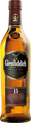 Whisky mal glenfiddich 15 años 700cc