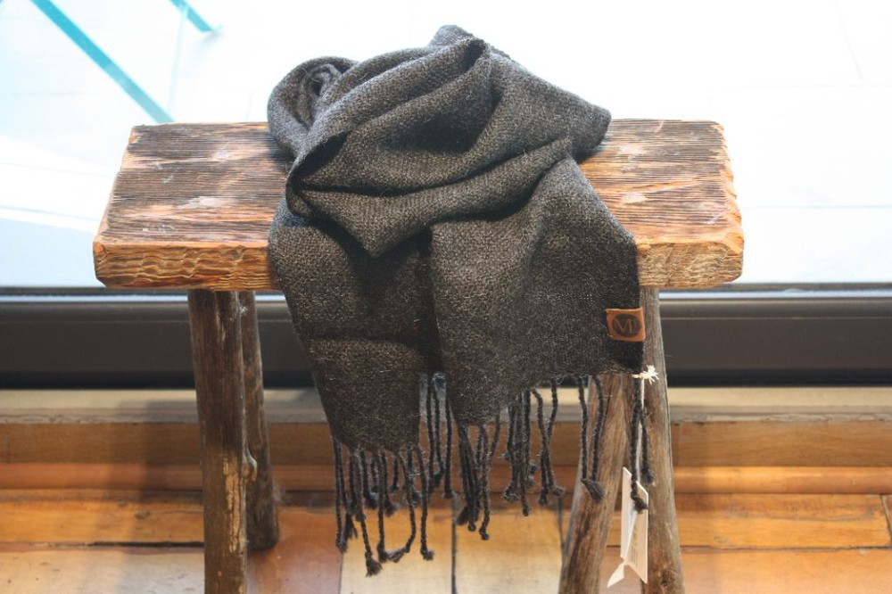 Bufanda de alpaca marengo