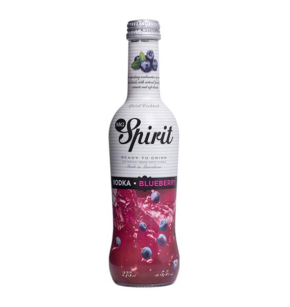 Coctel vodka blueberry