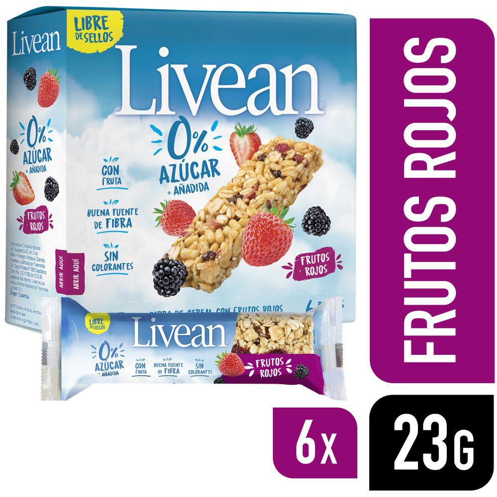 Barra de cereal con frutos rojos